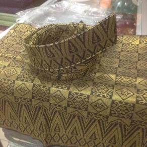 Set Tanjak hitam gold 3 items