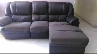 Sofa L shape with recliner