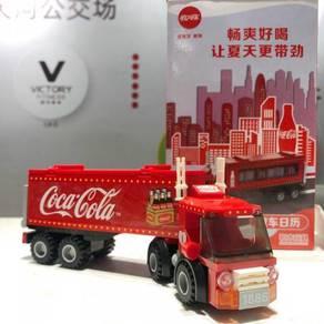 Coca Cola China Lego Block Truck Lori Model