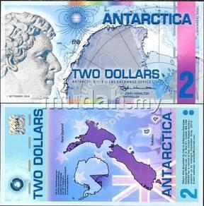 Antarctica 2 Dollars 2008 Polymer P NL unc
