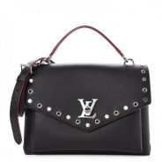 LOUIS VUITTON Soft Calfskin My Lockme Rivets Noir