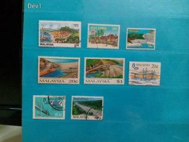 Set of 8 Malaysia stamps, year 1979/94