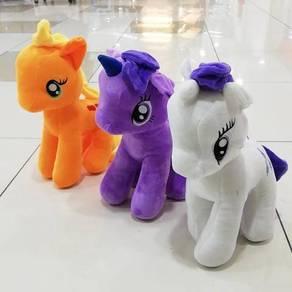 Baby ponytail soft toy colorful many sizes unicorn