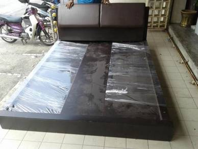 Black Solid Wood Queen Bed Base wt Drawer TB882