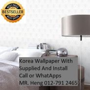 PVC Vinyl Wall paper with Expert Install 676F