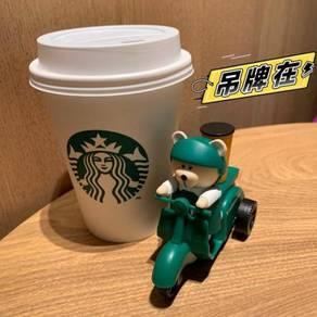 Starbucks Motor Bike Bearista Bear Toy Figure