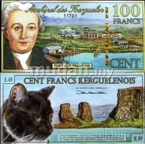 Kerguelen Islands 100 Francs 2012 unc