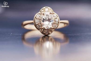 ABRGF-S001 Sparkling 10k Yellow Gold Filled Ring