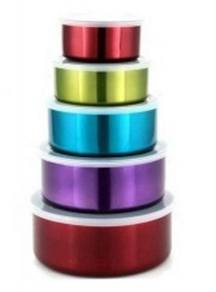 5 in 1 colorful Stainless Steel food cointainer