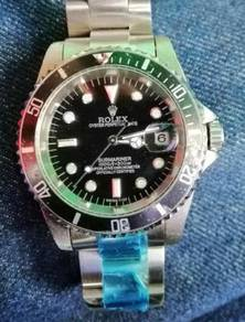 Jam Old school Submariner date 40 mm watch