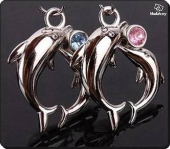ABPSS-D014 Stainless Mixed Alloy Dolphins Necklace