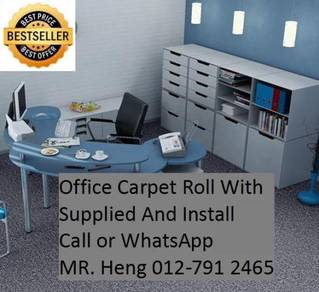 Classic Plain Design Carpet Roll with Install 48J