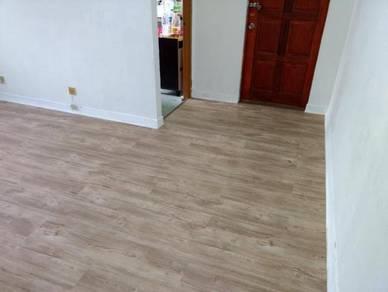 Vinyl Floor Lantai Timber Laminate PVC Floor Q490