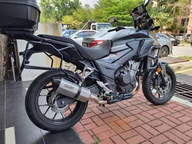 Ekzos Honda CB500X CB500 SBK Tri Oval Exhaust