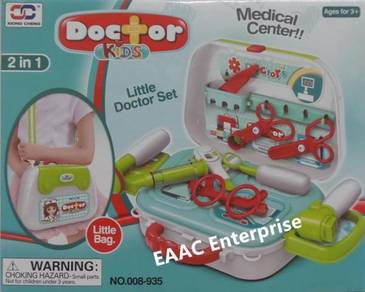 2 in 1 Doctor Set Role Pretend Play Sling Bag or L