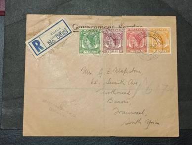 Antik Cover Malaya OGS Africa 1956 No 3289