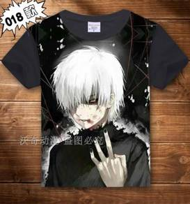 Anime Tokyo Ghoul Kineki Black background T-shirt
