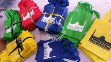 Non Woven Bag saiz A4 pelbagai warna Cetak Beg