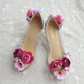Flower summer pointed high heels RBH0078