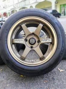 Te37 sports rim proton persona tyre 70% 15 inch