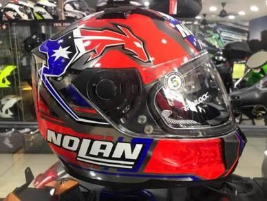 Nolan N64 Fullface Stoner Suzuka Scratched Chrome