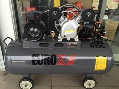 EuroPower 2HP 100Liter Belt Driven Air Compressor