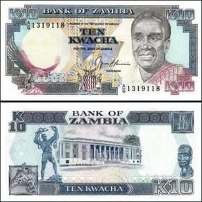 Zambia 10 kwacha 1989-1991 p 31 unc