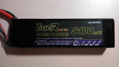 RC Tiger 5400mah 3s 11.1v 30c Lipo Battery Batt