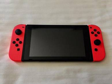 Red Transparent Nintendo Switch Bundle