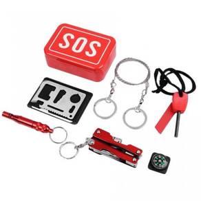 Camping survival kit / sos emergency box 08