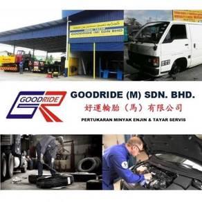 Minyak enjin & tayar servis kota bharu (stock)