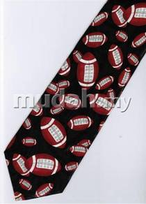 Rugby Ball Sport Novelty Fancy Neck Tie