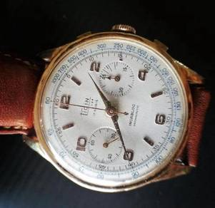 Ticin 750 gold chronograph