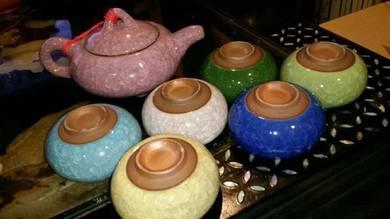 Unique colorful vintage chinese teapot set SLG
