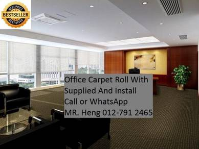 Modern Plain Design Carpet Roll With Install 55K