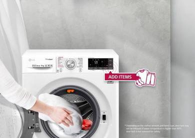 Harga lama * LG Front Load 9.0Kg Washer FC1409s3w