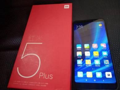 Redmi 5 plus 64gb skrin 6 inci macam baru