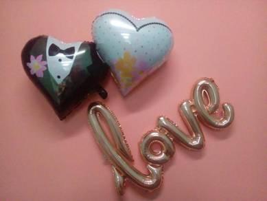 Wedding Of Balloon (Couple) + Love