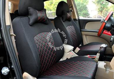 Car Seat Cover Elegant (Black with Red Lining)