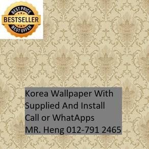 PVC Vinyl Wall paper with Expert Install 636B