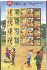 Mint Sheetlet Children Traditional Games 1 2000