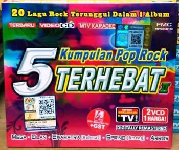 VCD 5 Kumpulan Pop Rock Terhebat II 2VCD