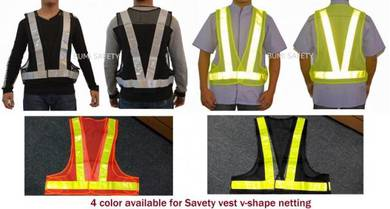 Netting Safety Vest with Reflector Strip