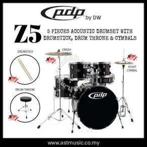 PDP Z5 Acoustic Drumset w Throne, drumstick
