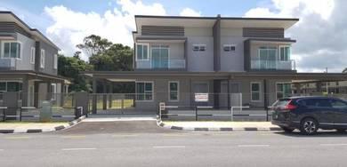 HUGE LAND 21 points New Double Storey Semi D House Matang Kawa Road