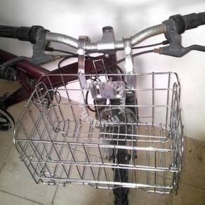 Bike cycling bicycle front handlebar folding baske