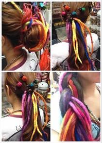 Nepal Color Wool False Braid