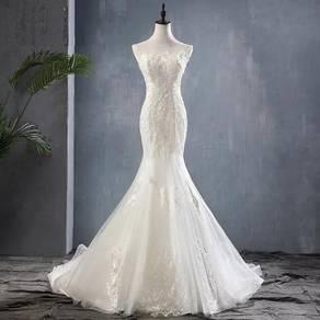 Ivory mermaid wedding bridal dress gown RB1522