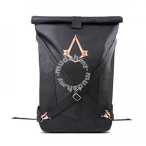 Assassin's Creed Black Folded Backpack bag G21
