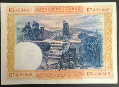 Spain Bank Note 1925 Ei Banco de Espana 100